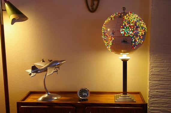 Stunning Handmade World Globe Decorative Desk Reading Lamp Etsy