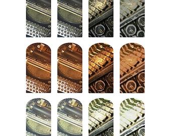 Printable Tags with Vintage Typewriter Image, Gift or Journaling Tags, digital, journal spots, scrapbook, art journal spot, embellishment