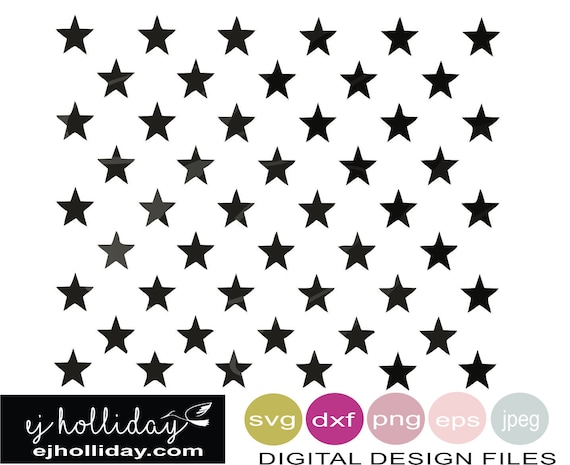 50 Stars The Union Svg Eps Png Dxf Jpeg Jpg Digital Cutting Etsy