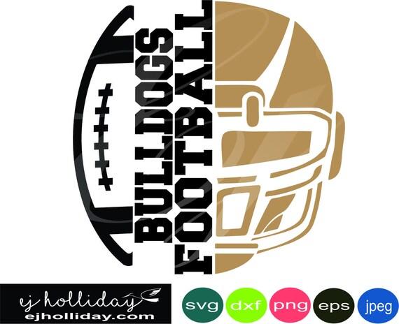 Bulldogs Football Helmet Split Design 18 Svg Dxf Eps Png Jpeg Etsy