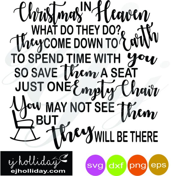Christmas In Heaven Svg.Christmas In Heaven Digital Cutting File Svg Dxf Eps Png Digital Cutting Design Vector File Graphic Design Instant File