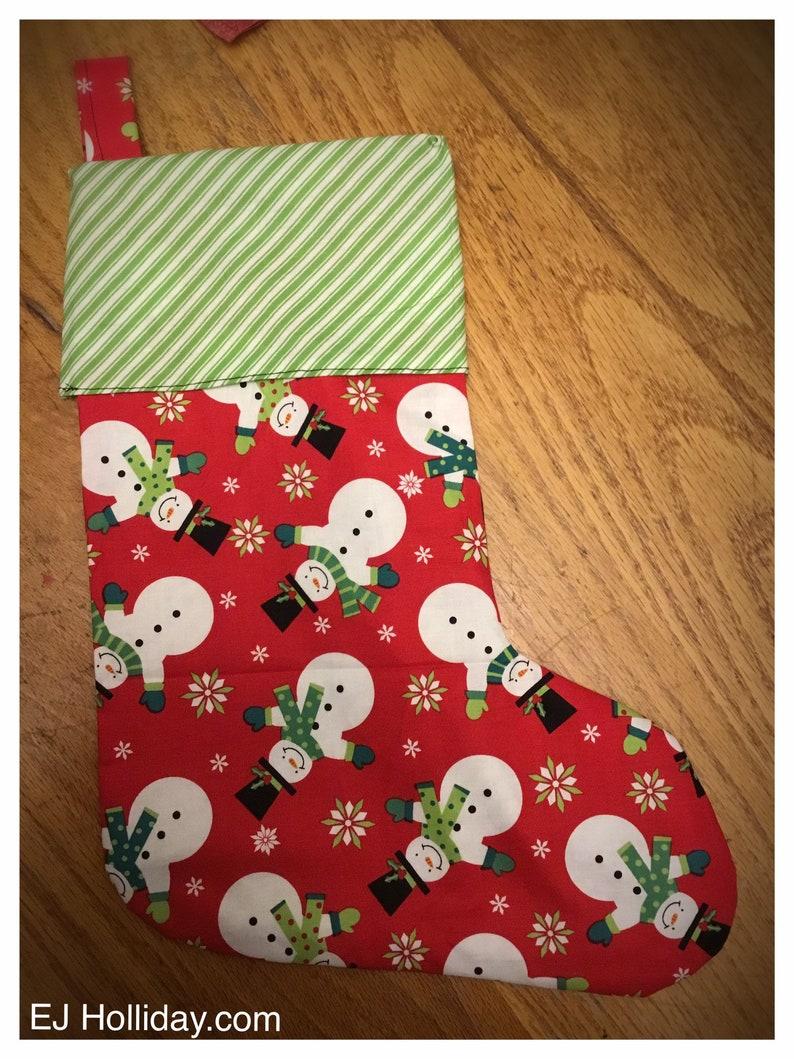 Snowman Christmas Stocking image 0