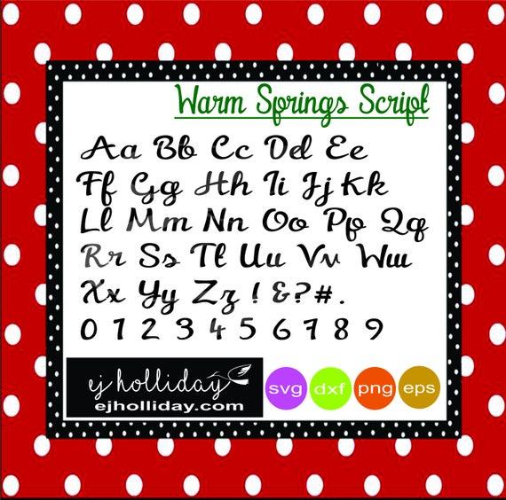 Warm Springs Script Svg Dxf Eps Png Digital Cutting File