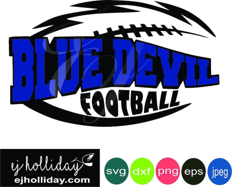 Blue Devil Football Layered Knockout high school svg dxf eps png jpg jpeg  Digital Cutting Instant Download Vector