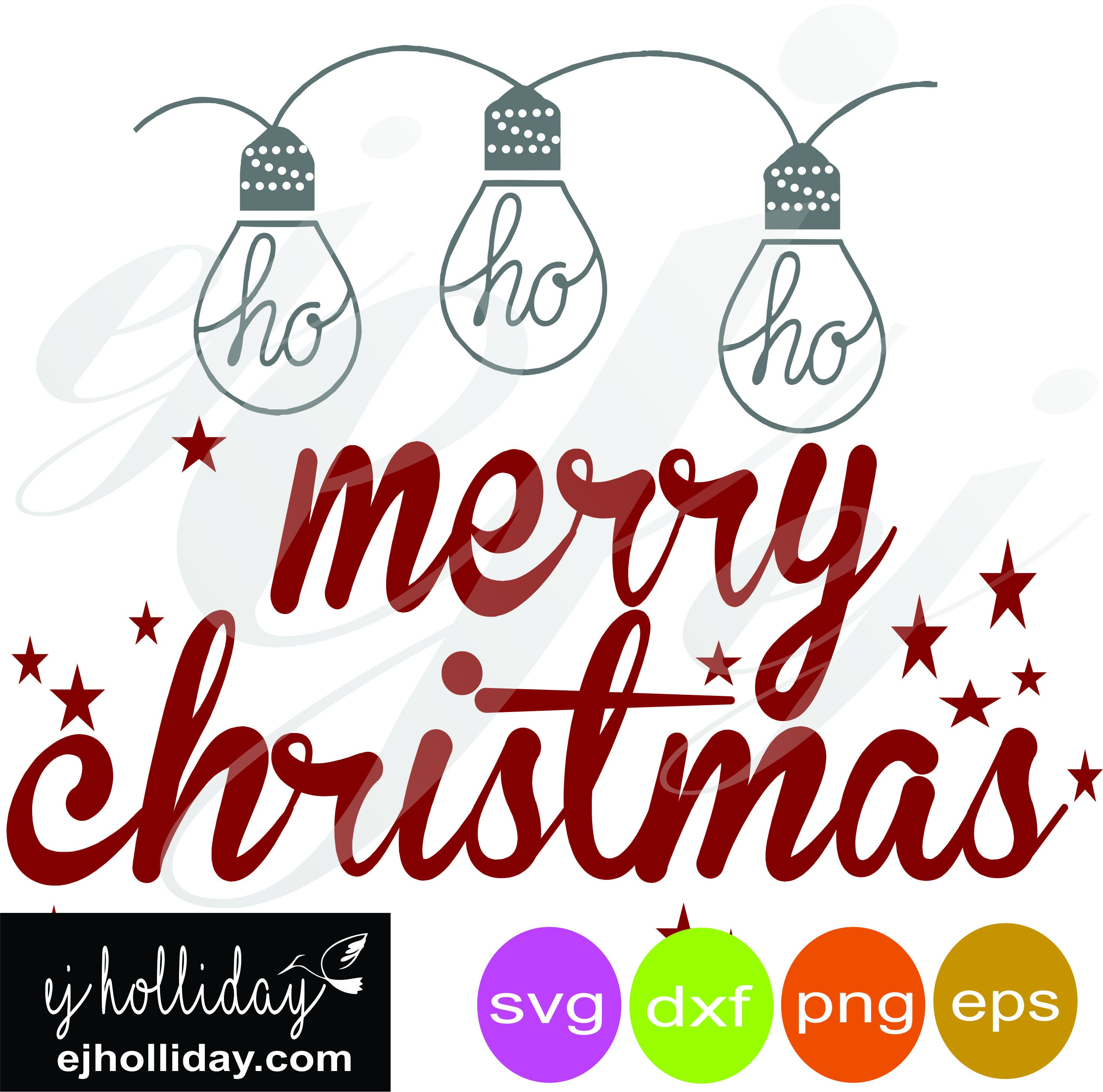 ho ho ho Merry Christmas svg dxf eps png Digital Cutting | Etsy