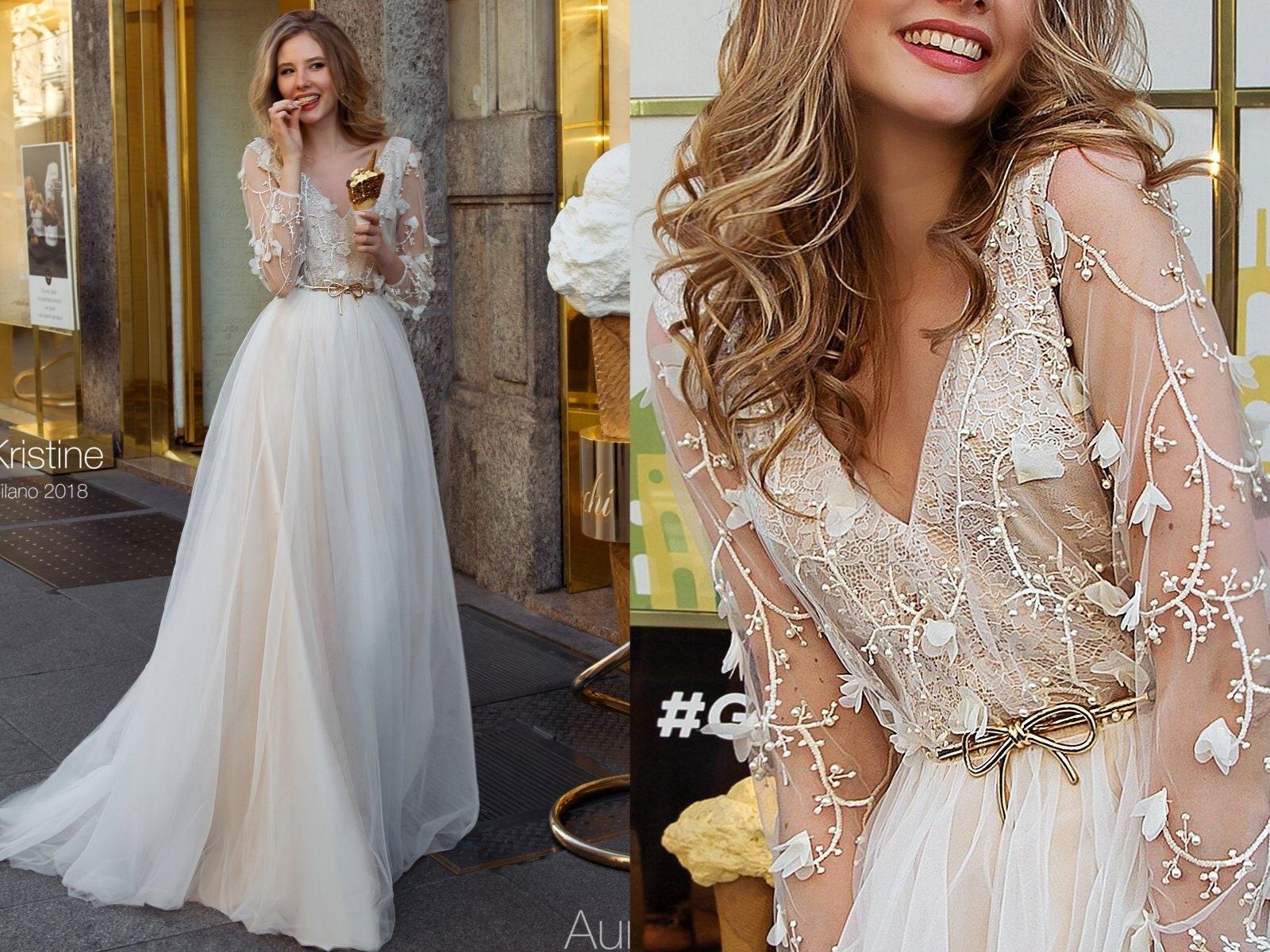 Bohemian Wedding Dress Wedding Dress Long Sleeve Wedding Etsy