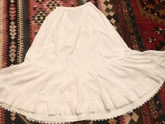 Antique Victorian Petticoat Slight Bustle Petticoa