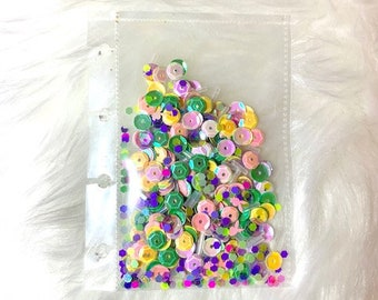 Buttons /& Flatback Pearls  An Easy Way to Fill Shaker Pockets Assorted Sequins Beads Fancy Filler for Shaker Pockets