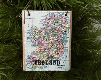 ireland ornament ireland gift map ornament travel gift