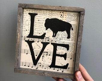Buffalo Love Sign, Buffalo NY Sign, Buffalo NY Gift, Buffalo NY wall art, Buffalove, Love Buffalo, University at Buffalo, Buff State