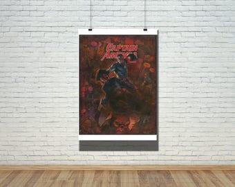 Comic Book Art / Captain America / Superhero Wall Art Comic Art / Superhero Decor Comic Book Art Gift / Superhero Gift Comic Book Print Set
