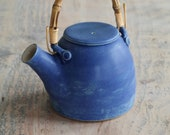 Blue Teapot, Hand Thrown Pottery 2 - 3 Cup Teapot - Indigo Glaze - Ready to ship