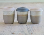 Mini Travel Mug - Small Pottery Keep Cup - Handmade Reusable Coffee Mug - Ready to Ship