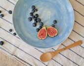 Hand Made Pottery Serving Plate - Hand Thrown Serving Platter - Large Shallow Dish - Ready to Ship