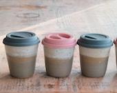 Ceramic Travel Mug - Pottery Keep Cup - Handmade Reusable Coffee Mug - Ready to Ship