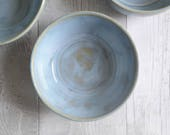 Handmade Stoneware Bowl - Calm Seas Blue Glaze - Hand Thrown Bowls - Made to Order