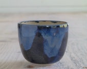 Yunomi - Dark Blue Tea Bowl - Small Beaker - Whisky Beaker - Ready to Ship