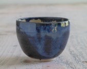 Yunomi - Stormy Blue Bowl - Small Beaker - Whisky Beaker - Ready to Ship