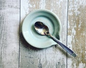 Ceramic Spoon Rest - Duck Egg Blue - Ready to Ship