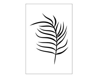 Boho Black Fern Print, Botanical Printable Art, Instant Digital Download Art, Modern art prints, Contemporary Art, Prints, Printable Artwork