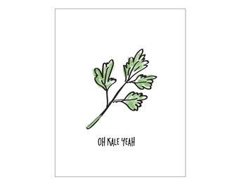 Kale Poster - kitchen print, vegan print, modern print, instant digital download print, fruit print, modern art print, prints, artwork