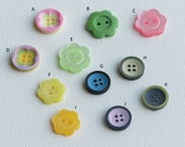 Flower Shaped Button Carved Flower Buttons Round 4 holes Buttons