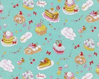 Fat Quarter Japanese Fabric Kokka Trefle Retro Japan Gadgets Black Cotton Linen Canvas