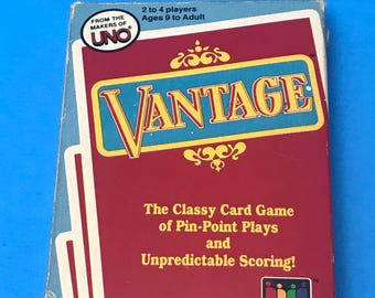 Vantage card game, from the makers of uno