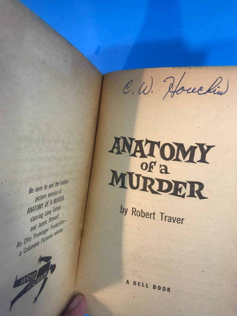 Anatomy Of A Murder By Robert Traver Etsy