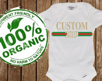 05244d053b26 CUSTOM designer like ORGANIC - eco Friendly (both lines fully customizable)  take home outfit Onesie® (Gerber organic)