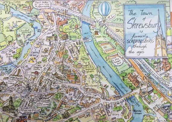 A Map of Shrewsbury