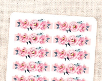 Good Vibes - 14 hand painted watercolor decorative HEADERS stickers for planners