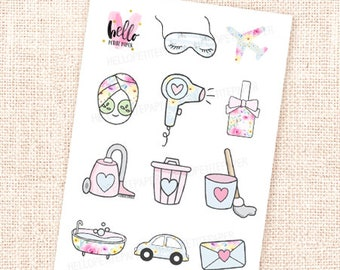 Mini sticker sampler - In Full Bloom  collection / 14 stickers / for the Erin Condren, Personal planners