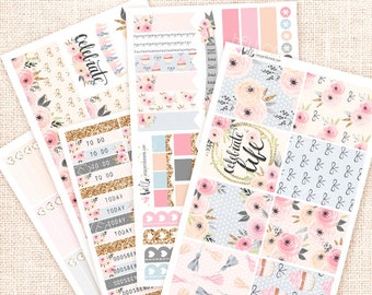 Celebrate - Hand drawn Planner sticker Kit, 6 pages / for Erin Condren Life Planner - party, birthday, anniversary themed