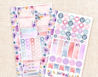 Le Jardin - Personal size sticker kit / 2+ functional sheets for personal planners