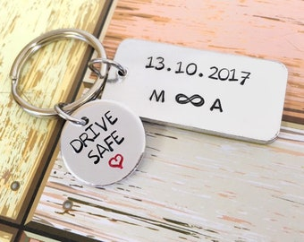 Personalised Drive Safe Keyring Anniversary Gift For Him I Need You Keychain Customised Boyfriend Birthday