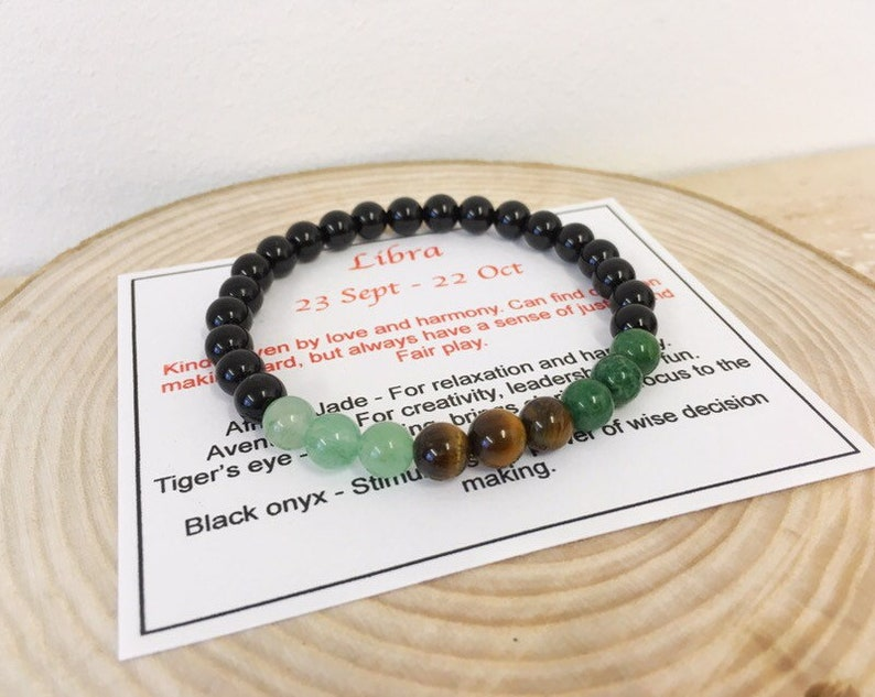 Libra Bracelet Zodiac October Birthstone Birthday Gift Gifts Mens