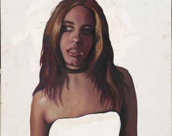 Giclee CANVAS - Zombie Girl - Stretched Canvas Giclee Art Print of Original Oil Painting