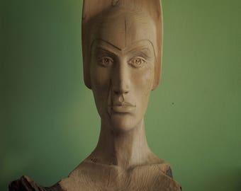 Wood Sculpture - Bust Sculpture - ANASTASIA