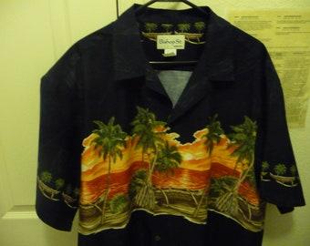 249a825f Like New Bishop Street Apparel Men's 3XL SS Aloha Hawaiian Shirt great  Sunset on Palmtrees Dad Wear Alert!!!