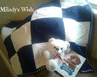 Wrapped In Love Crochet Baby Blanket Afghan Heart Blocks