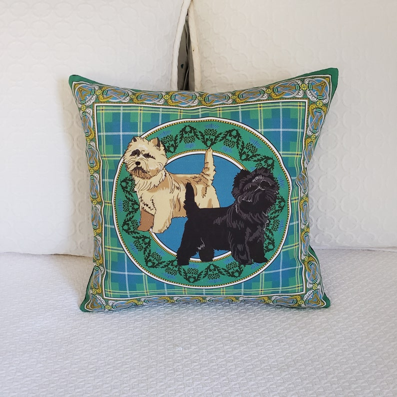 Cairn Terrier Throw Pillow Accent Pillow on SALE Easter Gift Decorative  Pillow