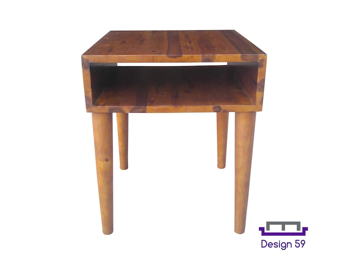 Acacia Mid-Century Modern Night Table or End Table in Retro Walnut