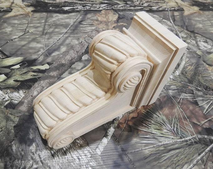 9x6x4 Inch Maple Decorative Corbels- Single Corbel