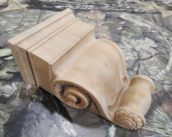 UNFINISHED Cherry Rope Corbels- SINGLE- Limited