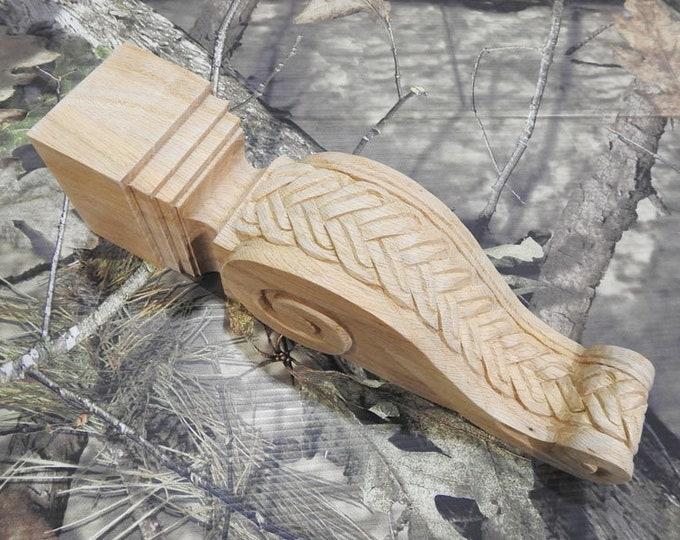 UNFINISHED Oak Braid Corbels- SINGLE- Limited