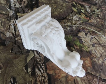 Molded Resin Grape Corbel -White- SINGLE- Limited