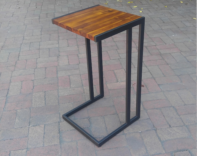 Retro Acacia Hardwood Modern C Tables | End Table