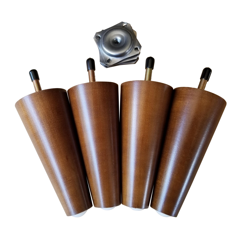 Excellent 5 Inch Sofa Legs Retro Walnut Finish 8Mm Conversion Best Image Libraries Weasiibadanjobscom