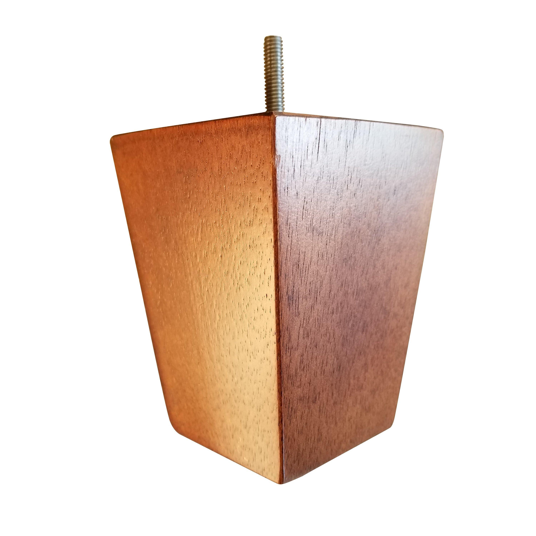 Wondrous 5 Oak Finish Square Tapered Pyramid Wooden Sofa Legs Short Links Chair Design For Home Short Linksinfo
